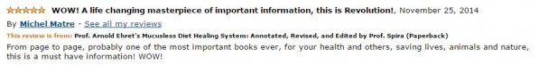 Michel Matre Amazon Review