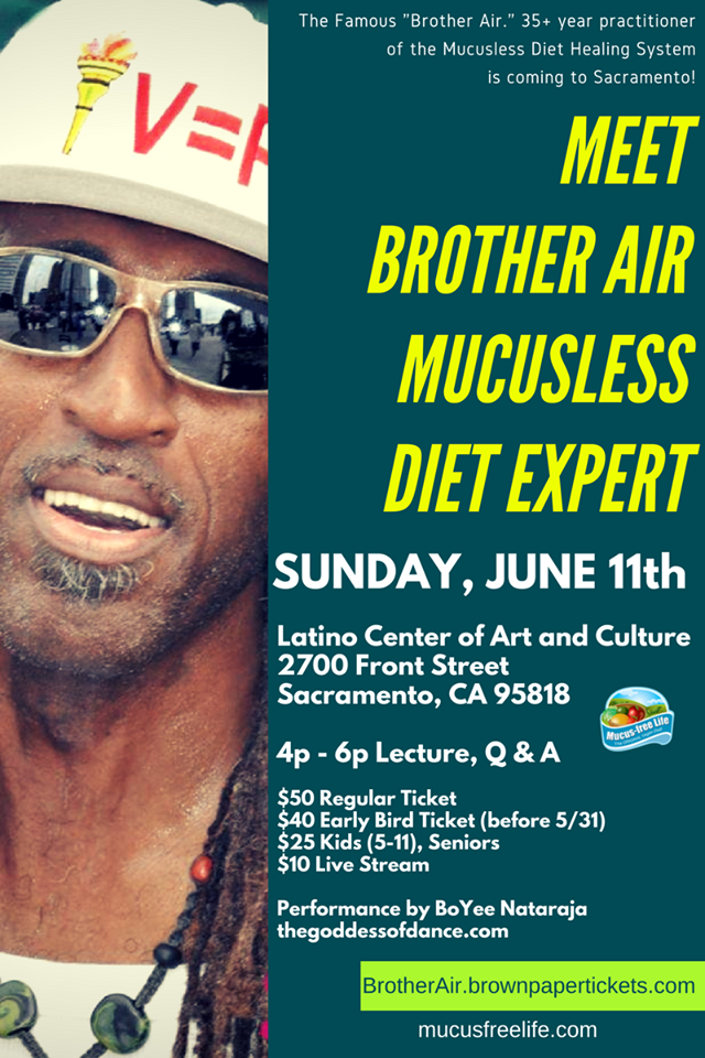 [LIVE VIDEO] Fasting Expert Brother Air Coming to Sacramento (June 11, 2017)